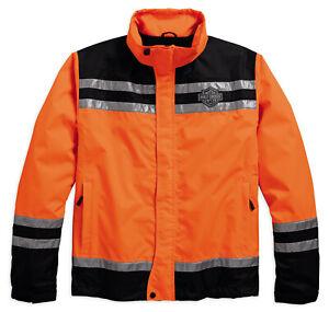 Regenjacke, Hi-Visibility Reflective, Harley-Davidson, Orange