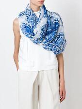 Dolce & Gabbana Bufanda 'Mayólica Azulejo impresión' Estampado de Seda Pura robó BNWT RRP £ 330