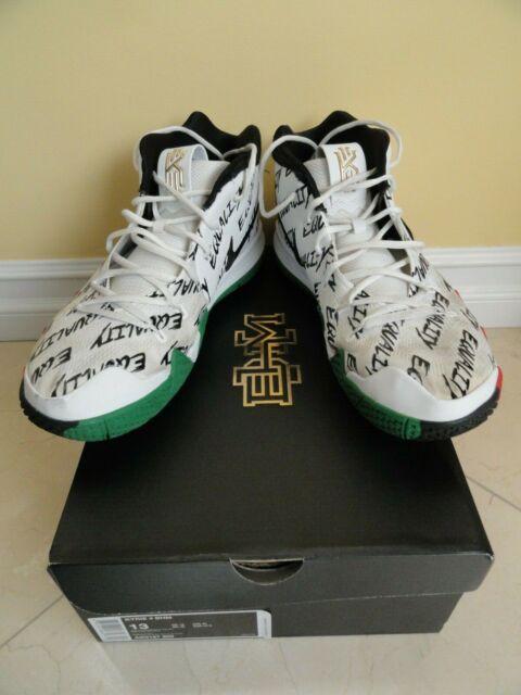 brand new 08a7e dc287 Nike Kyrie 4 BHM Equality Multicolor White Black Red AO3167-900,Size 13,  Pre Own