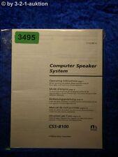Sony Bedienungsanleitung CSS B100 Computer Speaker System (#3495)