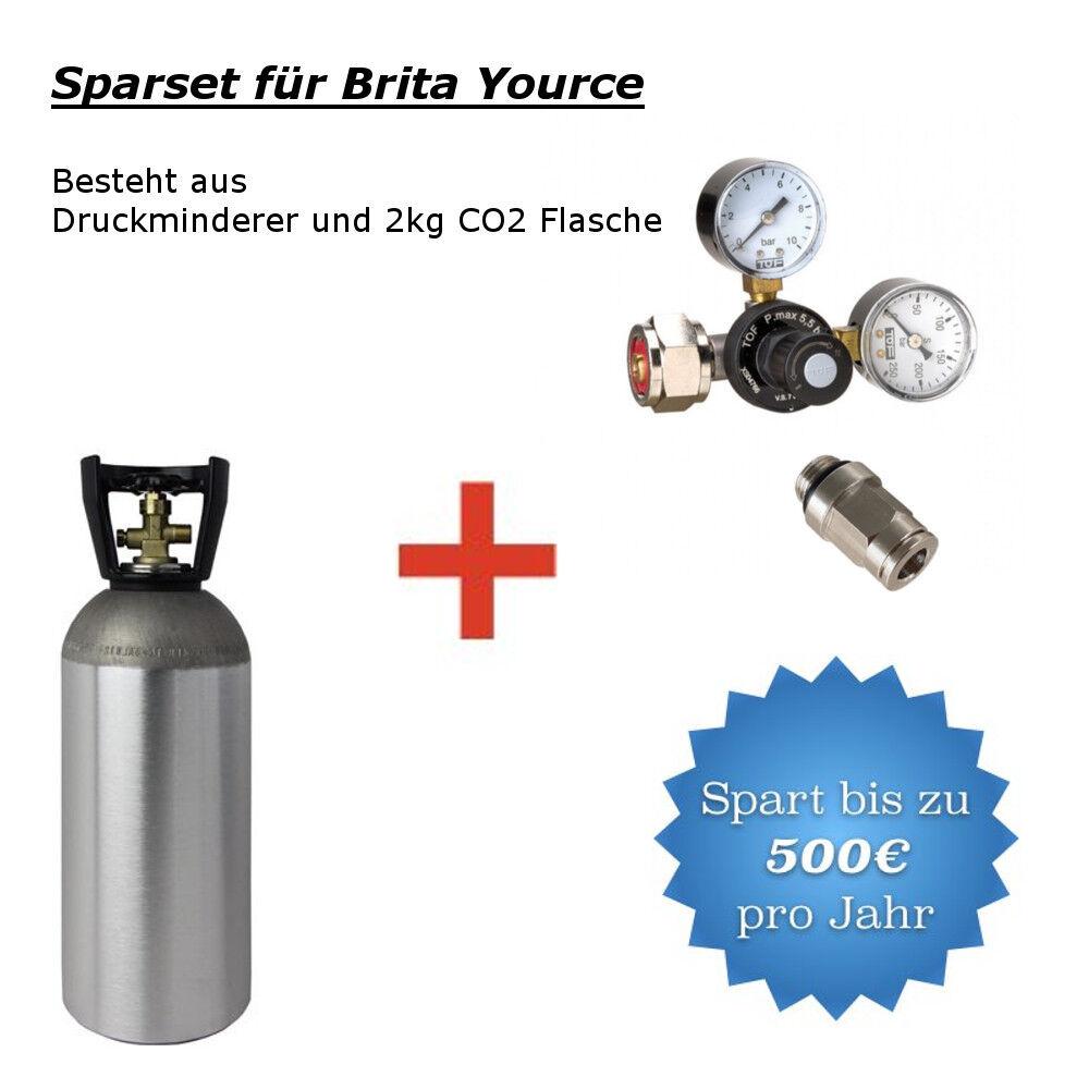 Co2 Réducteur de pression Incl. 2 kg co2 bouteille Convient Pour Brita Yource Système