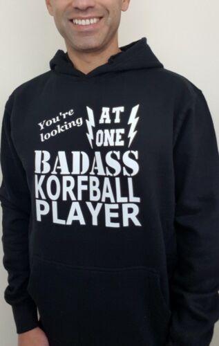 Badass Korfball Player Hoodie New Funny Birthday Gift Mens