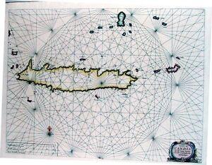 Antique-map-Pascaerte-van-Candia