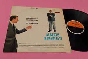 GIORGIO GASLINI LP PRESENTA ALBERTO RABAGLIATI ORIG 1962 EX MUSICHE GASLINI