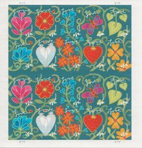 2011-Forever-Garden-of-Love-full-Sheet-of-20-Scott-4531-4540-Mint-NH