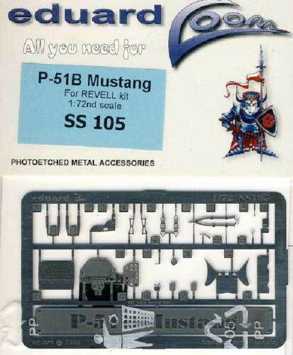 eduard P-//F-51B Mustang interior Ätzteile 1:72 Modell-Bausatz Revell Gurte Belts