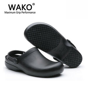 a61e64702a Women Men Chef Shoes Slippers Sandal Clogs Water Safety Kitchen Non ...
