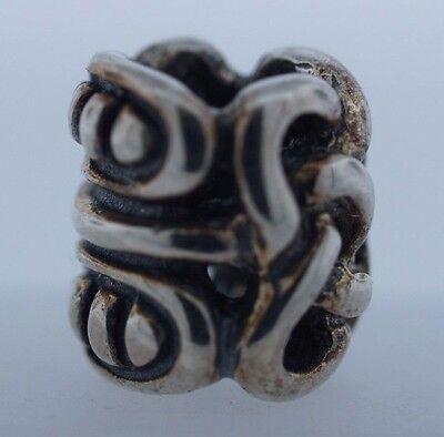 Authentic TROLLBEADS Midgard Serpent 11263 Nouveau .925 Silver Charm Bead