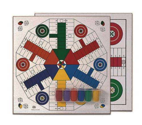 Juego de Parchis Tablero MADERA 40x40 de Cayro 4 y 6 jugadores + Accesorios 134A
