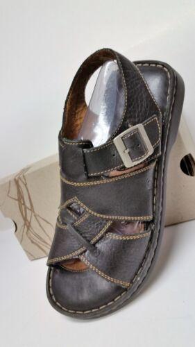 Born Men's Size 10 Soft Blalck Slingback Leather S