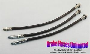 BRAKE-HOSE-SET-American-Motors-Rambler-Classic-1964-1965-6cyl-Drum