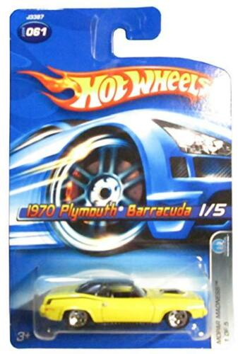 2006 Hot Wheels /'70 Plymouth Barracuda #61 Mopar Madness Diecast Car Yellow