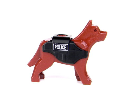 Police K9 LEGO® Dog (SKU33) with custom tactical vest  made with real LEGO® dog