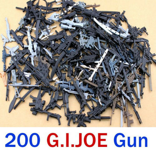 Lot 200Pcs Accessories For Gi joe Cobra g.i joe Action Figures weapon guns toy