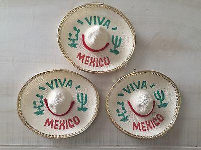 MH006 5 Mexican Mini Charro Hats, Party Favors, Decorations, Mariachi Sombrero