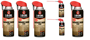 Details About 6 Pk 3 In One Professional Garage Door Lube Stops Squeaks Eliminates Sticking
