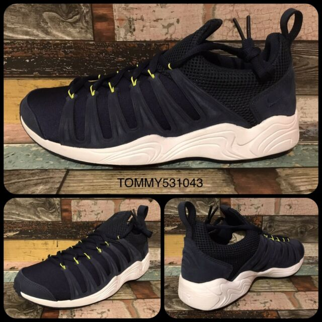 5dbe04570a56 Nike Air Zoom Spirimic Midnight Navy White Men Casual Shoes SNEAKERS ...