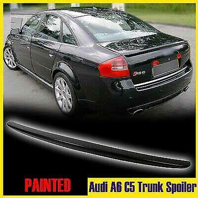 Unpainted For Audi A6 C5 Saloon Rear Boot Trunk Spoiler 98-04 Quattro