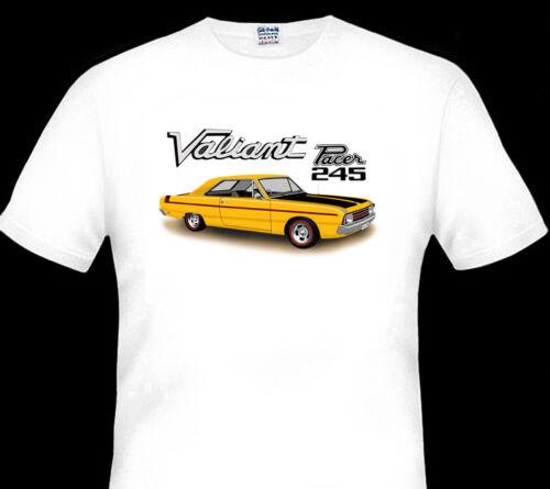 5 CAR COLOURS BIG FIT VALIANT  VG  PACER  HARDTOP  HEMI  QUALITY WHITE TSHIRT