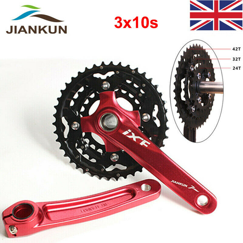 170mm Crank set BB 3X10S MTB Bike Triple Chainset 104 64bcd 24 32 42t Chainring