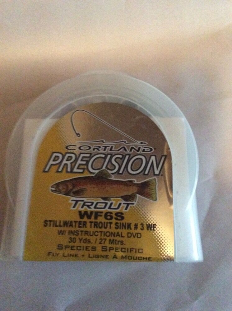 Cortland Precision TROUT WF6S With INSTRUCTIONAL CD 30 Yes Fly Line-New In Box
