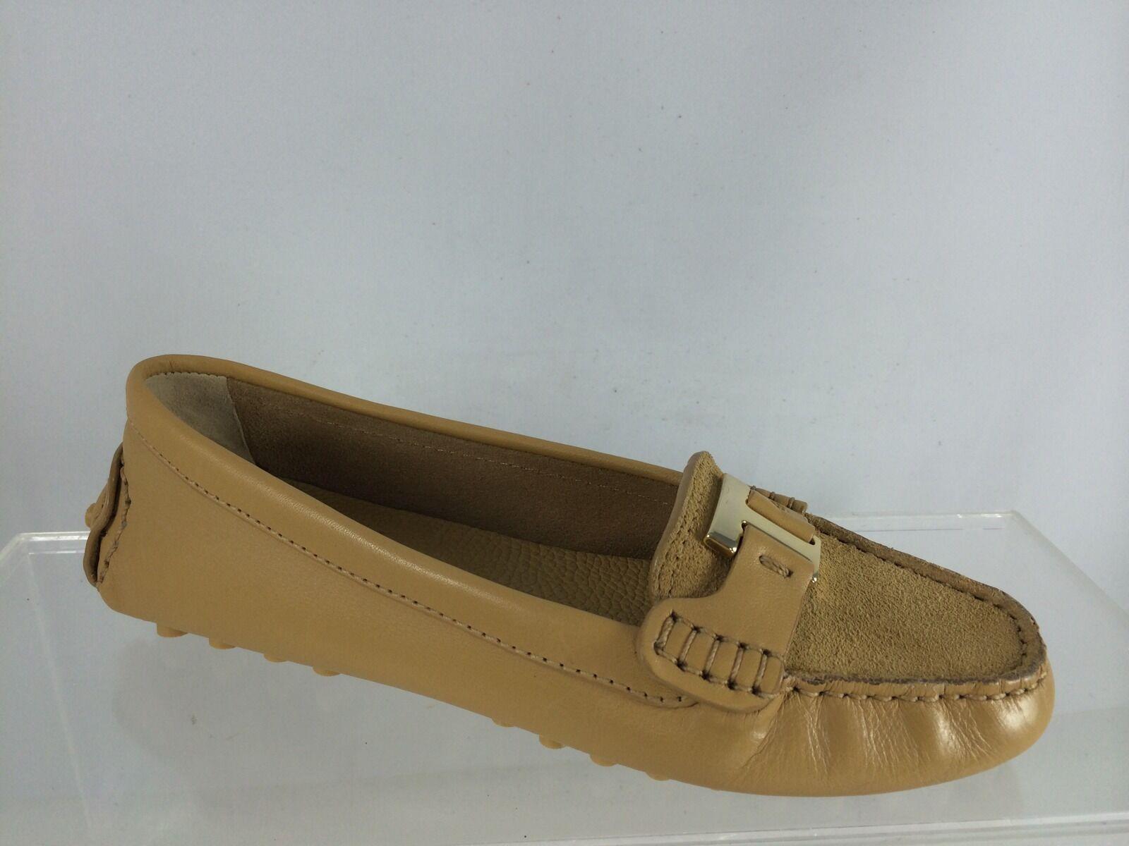 Tory Burch Chaussures femme en cuir beige avec logo logo logo doré Flats Chaussures 5.5 m a56205
