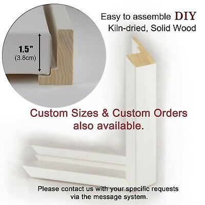 ANY SIZE Cut to Order Custom Size Picture Frame Modern Standoff Floating
