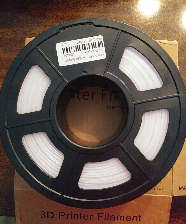 Sunlu PETG 3D Printer Filament 1.75mm White 1kg