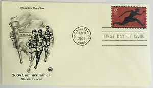 10-USPS-PCS-Athens-Summer-Games-2004-37c-Stamp-FDC-3863-First-Day-Issue-NEW