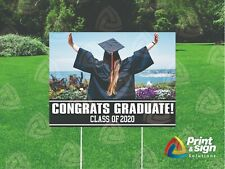 Graduate Cap Amp Gown 18x24 Yard Sign Coroplast Printed Double Sided W Free Std