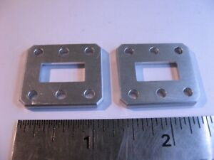 WR62-Special-Waveguide-Flange-1-8-034-Thick-6-Hole-Alum-Butt-RF-Microwave-NOS-Qty-2