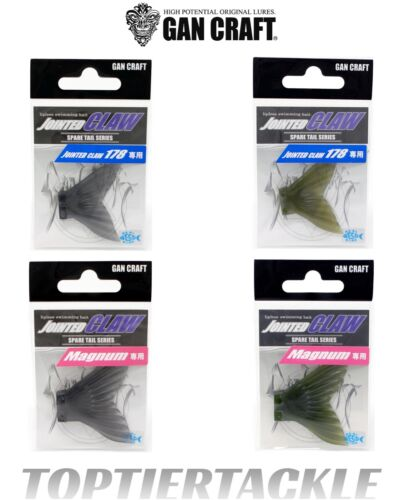 Select Size//Color Gan Craft Jointed Claw Swimbait Spare Tails