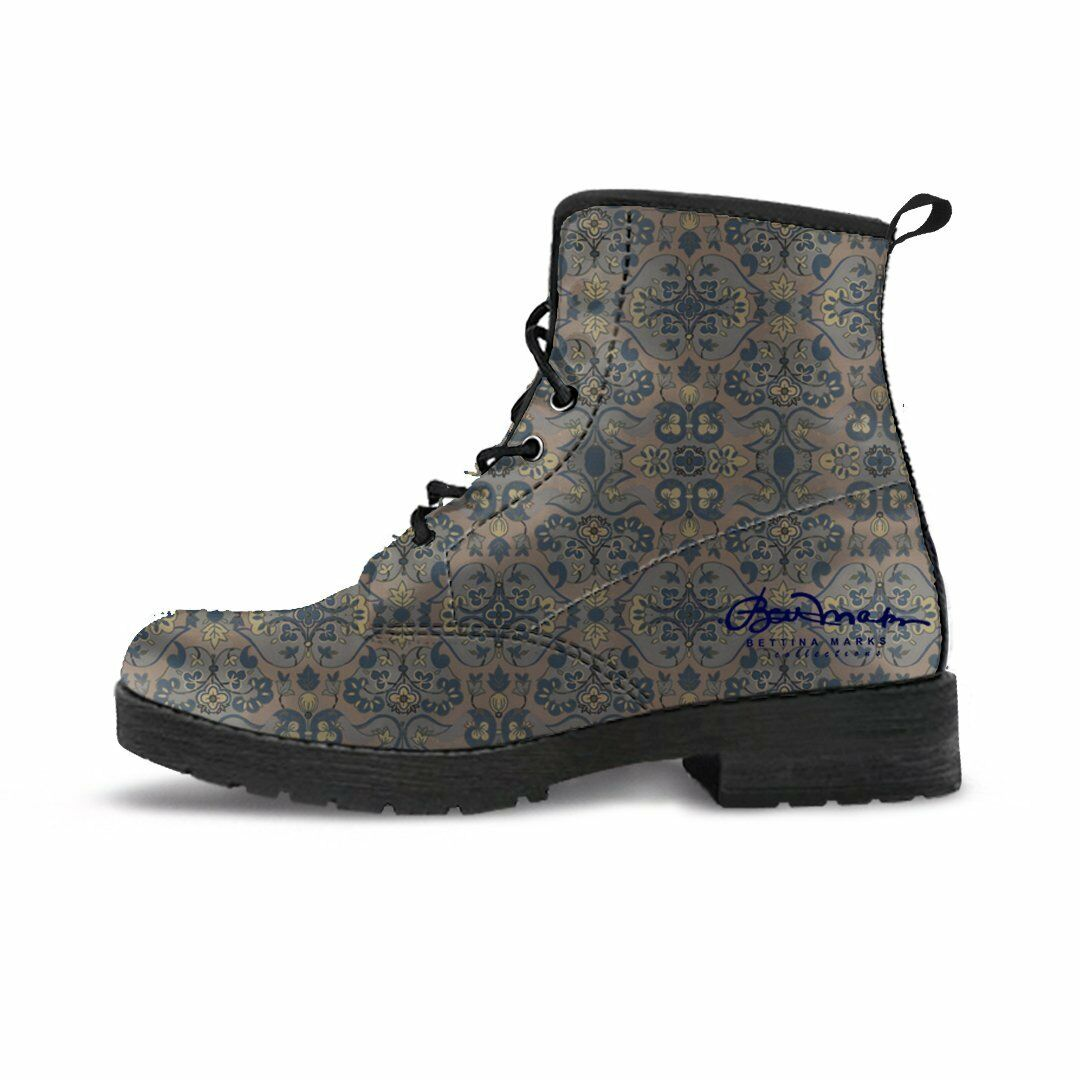 Not Quite Paisley Leather Boots