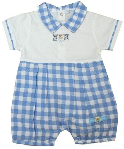 Little Fella Spieler//Overall **BEAR** Gr.50-62  Weiß//Blau England NEU