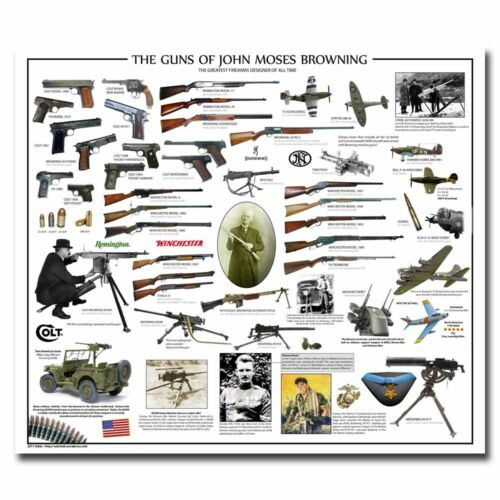 The Gun Of John Moses Browning 12x14 24x28inch Silk Poster Cool Gifts