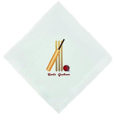 Personalised Cricket//Cricketer Novelty Handkerchief Christmas Birthday Gift