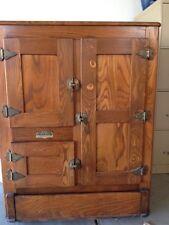 Vintage Antique Oak Polar King Ice Box Refrigerator
