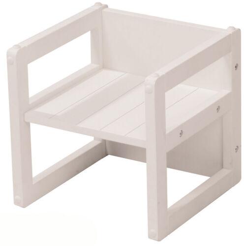 Sitzhocker 2in1 Kindertisch 30x30cm Kinderstuhl 3 Sitzhöhen Holztisch Holzstuhl