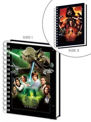STAR WARS CHOOSE A SIDE HARD COVER A5 NOTEBOOK LINED YODA, DARTH VADER OFFICIAL