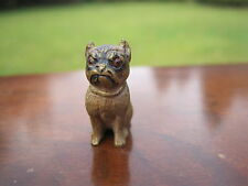 GORGEOUS ANTIQUE RARE AND UNIQUE VIENNA COLD BRONZE MINIATURE PUG DOG