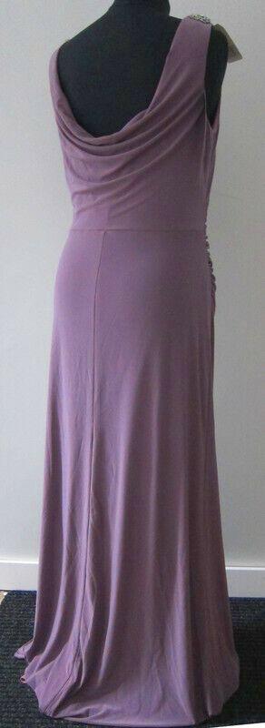 Figurbetont Kleid Abendkleid Lawrence grau Flieder Flieder Flieder 40 Wasserfallausschnitt 5924c4