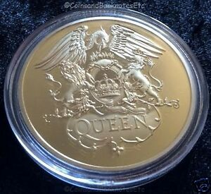 QUEEN-ROCK-BAND-Freddie-Mercury-24-Carat-Gold-Plated-Coin-9