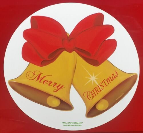 """LMH MAGNET Holiday  MERRY CHRISTMAS Gold BELLS Christ In Car Truck GIANT BIG 15/"""""""