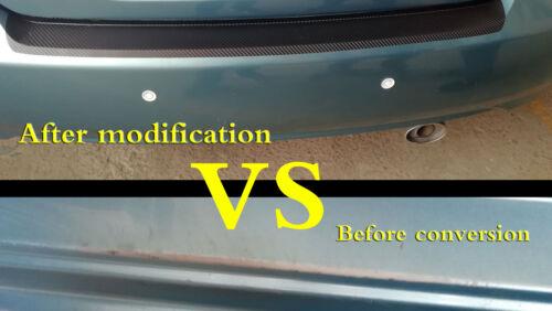1pcs 3D carbon fiber sticker car trunk bumper protection strip  protection strip