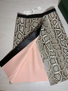 Proenza-Schouler-Python-Leather-Runway-Asymmetrical-Skirt-RRP-4085-NEW-WITH-TAG