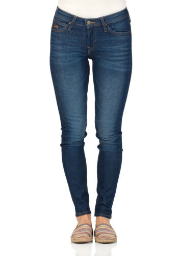 Lee Damen Jeans Scarlett Skinny Fit Vintage Worn Blau