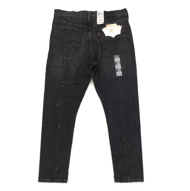 aed8083cd4c Levi's Altered 501 Skinny Black Jeans Size 32 x 28 Stretch Fit Distressed  Denim