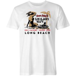 Vintage Tiki Bar T Shirt New Fashion Men Don May/'s Leilani Hut Belmont Shore CA