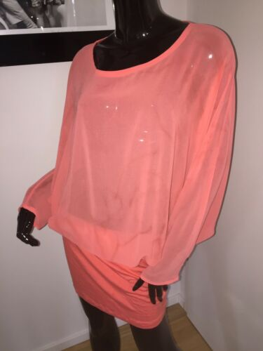 Orange Klaus 36 Lachs Dilkrath Dress Tunika Kleid Neon Longshirt 38 M Hummer S qOCUnqv