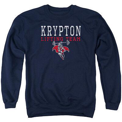 Superman KRYPTON LIFTING TEAM Licensed Adult Sweatshirt Hoodie